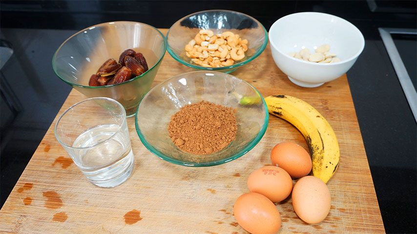 ingredientes brownie vegano